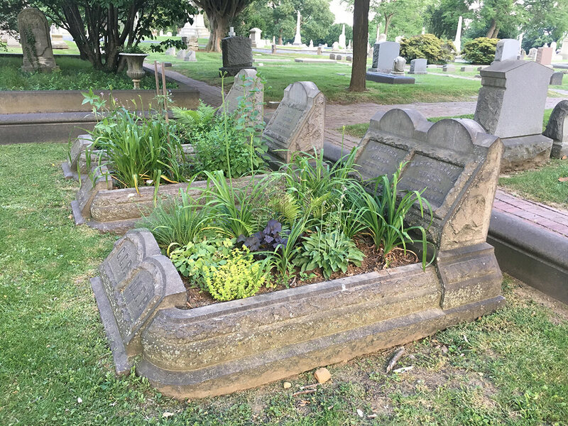 Gardeners are assigned one or two graves to attend.