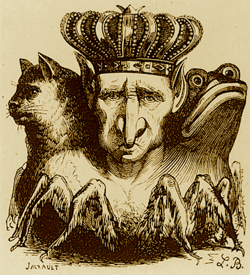 Demon ruler Bael, from the <em>Dictionnaire Infernal</em>.