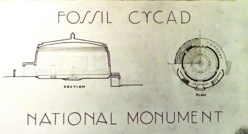 Detail from the plan for a proposed visitor's center at the monument.