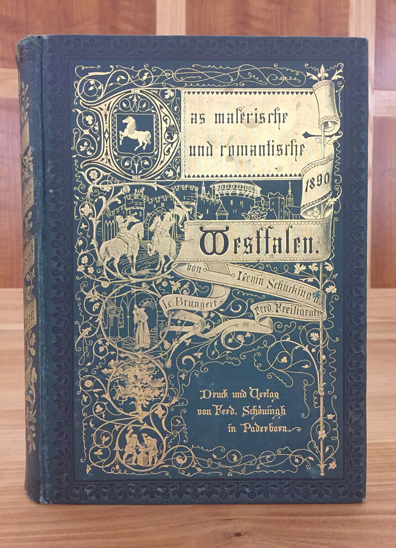 One of the 19th-century German travel books recovered by the Muhlenberg College library.