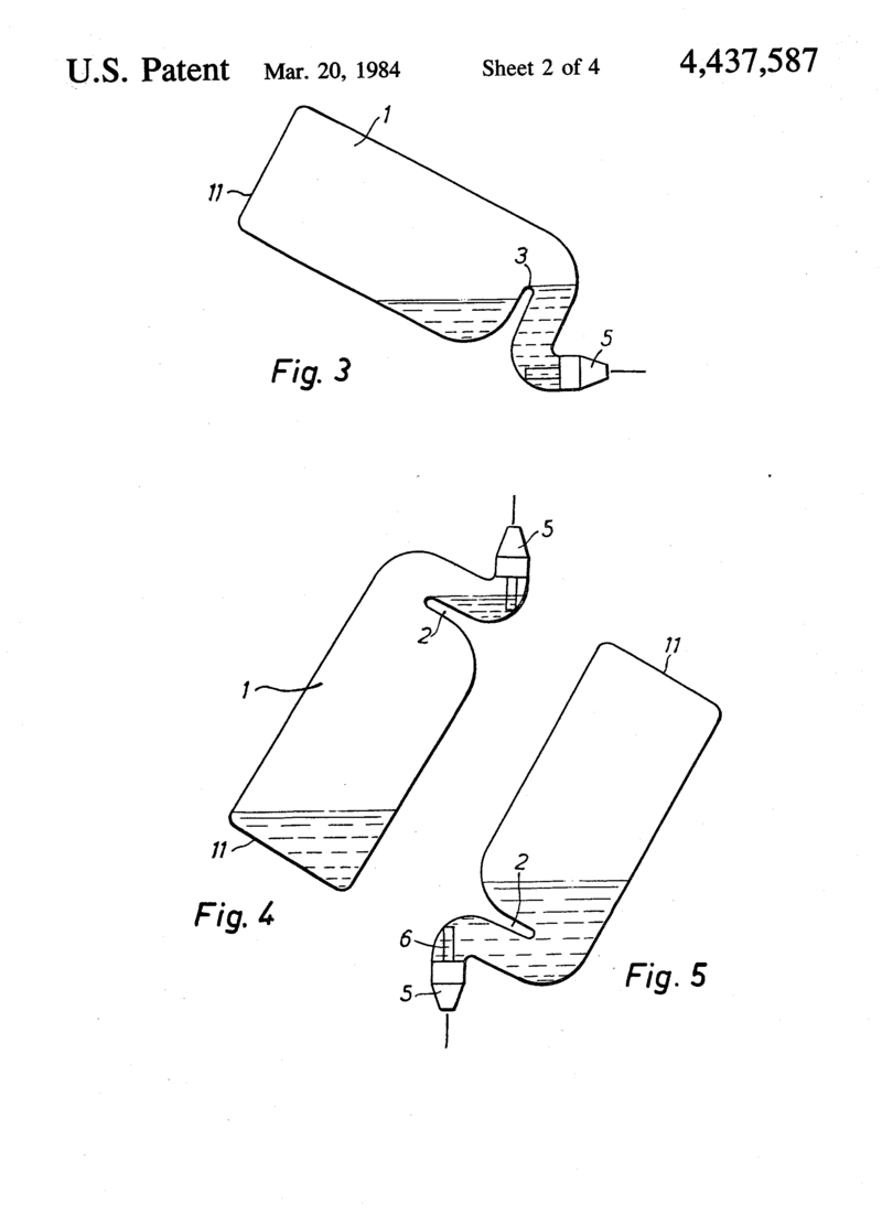 The 1984 patent for the Toilet Duck design.