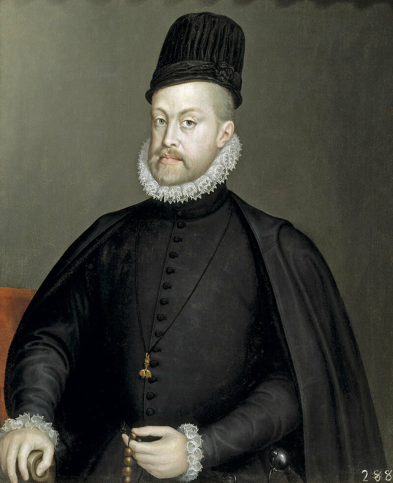 King Philip II of Spain wearing a toque, 1565.