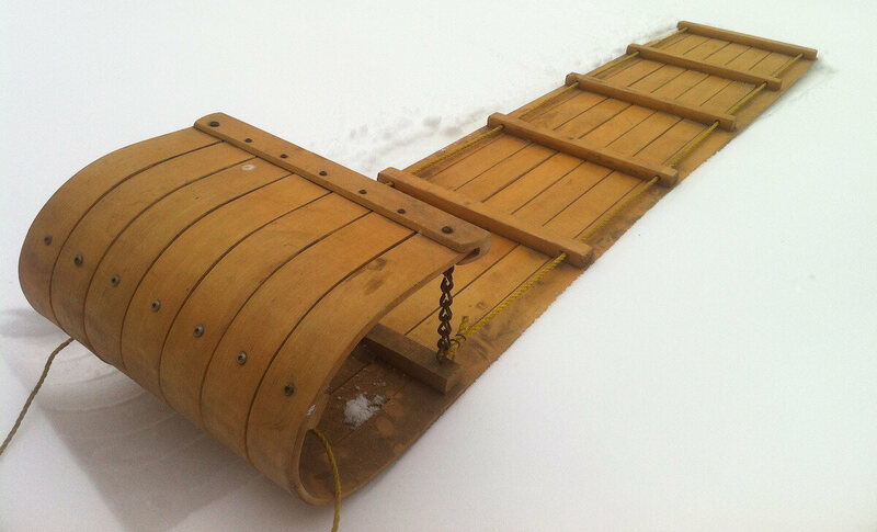 Classic toboggan (as in a sled).