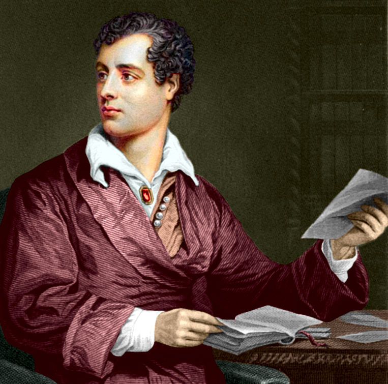 Engraving of Lord Byron