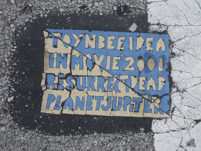 A Toynbee Tile in Indiana.