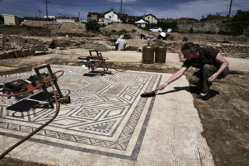Remains of a Roman neighborhood have been discovered in Sainte-Colombe, near Vienne, eastern France.