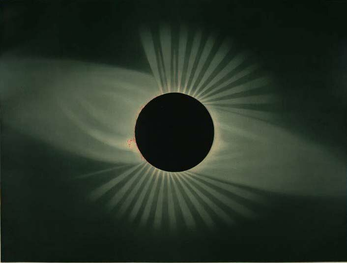 The eclipse of 1878 as observed from Wyoming.