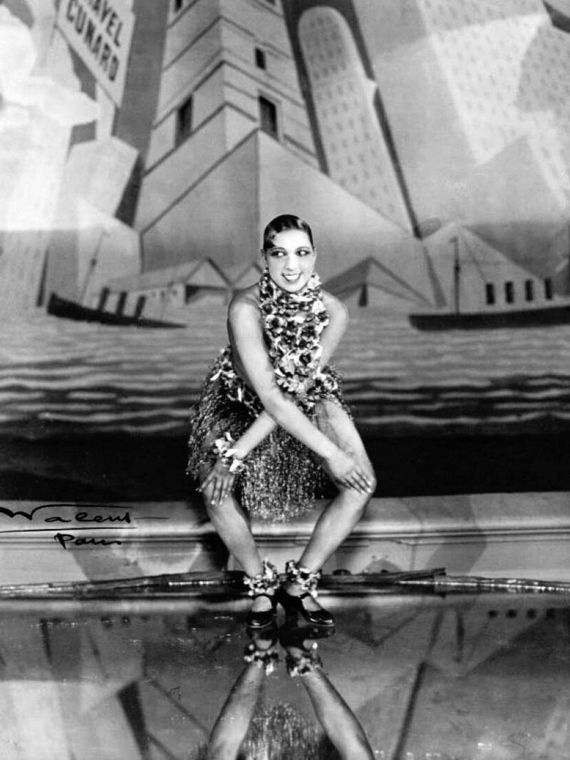 Josephine Baker dancing the Charleston in Paris in 1931.