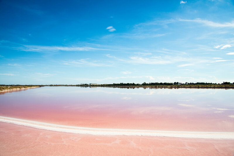 Salin Aigues-Mortes's pink hue.