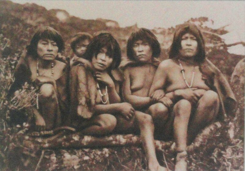 Members of the Yaghan tribe, 1883.
