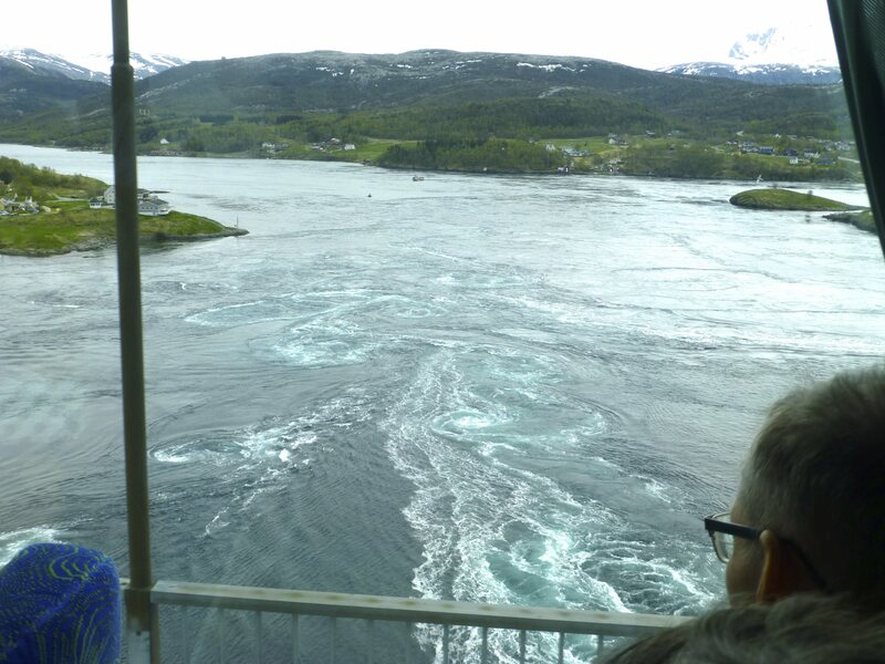 View of the maelstrom from the Saltstraumen bridge.