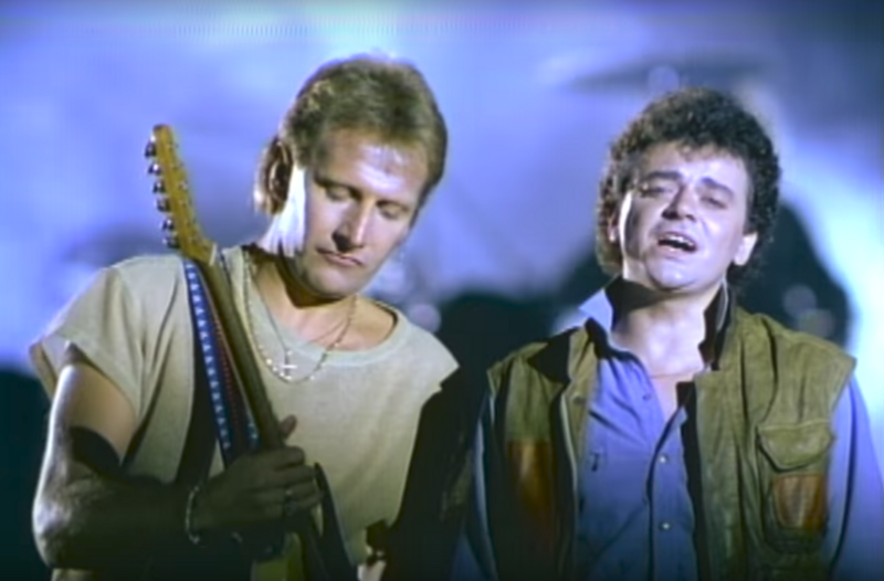 Air Supply in their music video for <em>Making Love (Out of Nothing At All)</em>, another hit written by Steinman that Meat Loaf had wanted to record.