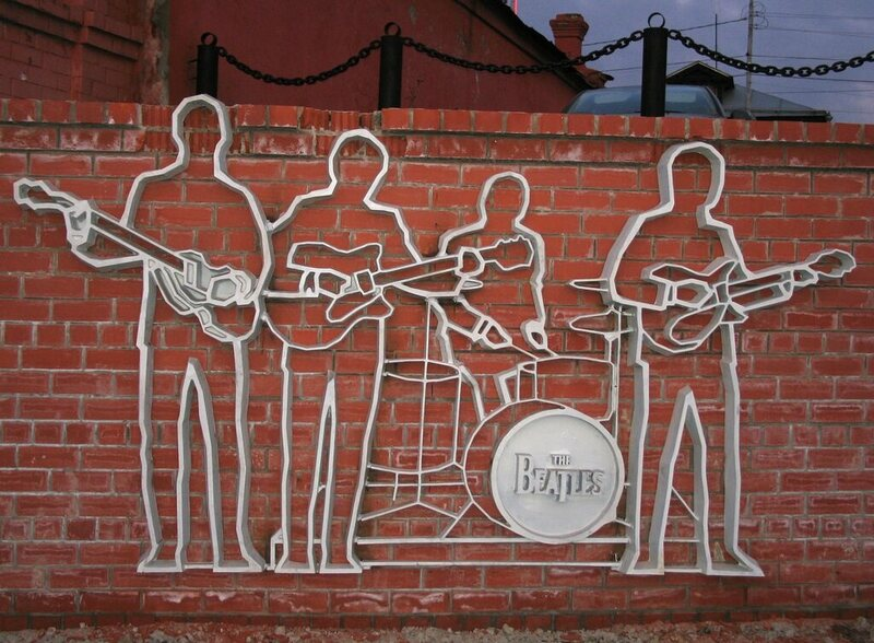 The Fab Four wall sculpture.