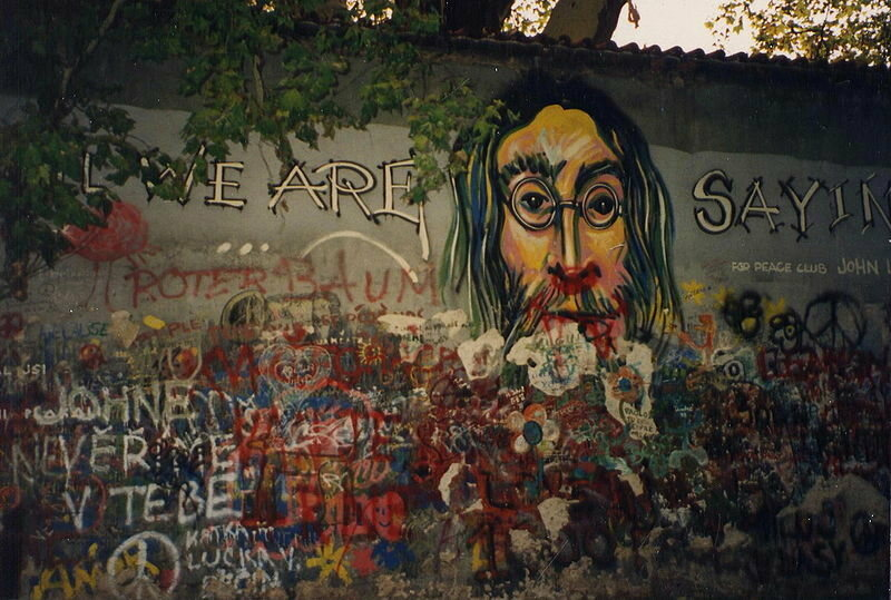 The Lennon Wall.