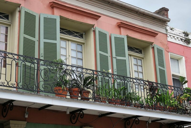 Whether accidental or intentional, the balcony at 615 Chartres is sure to catch a few eyes.