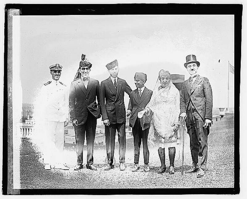 Weyman (far left) and Princess Fatima of Afghanistan during a visit to see President Harding.