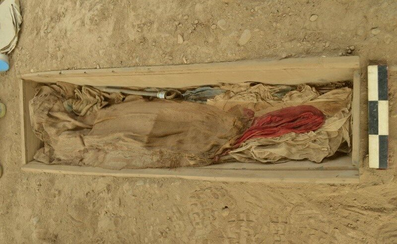 One of the burials found at the pyramid.