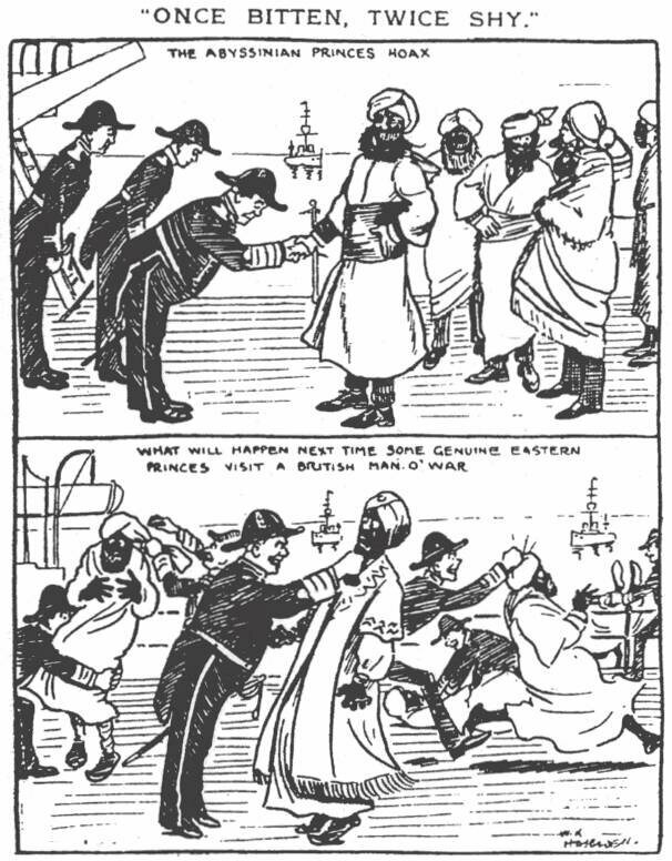 The <em>Daily Mirror</em>'s comic, published February 1910, by William Haselden,