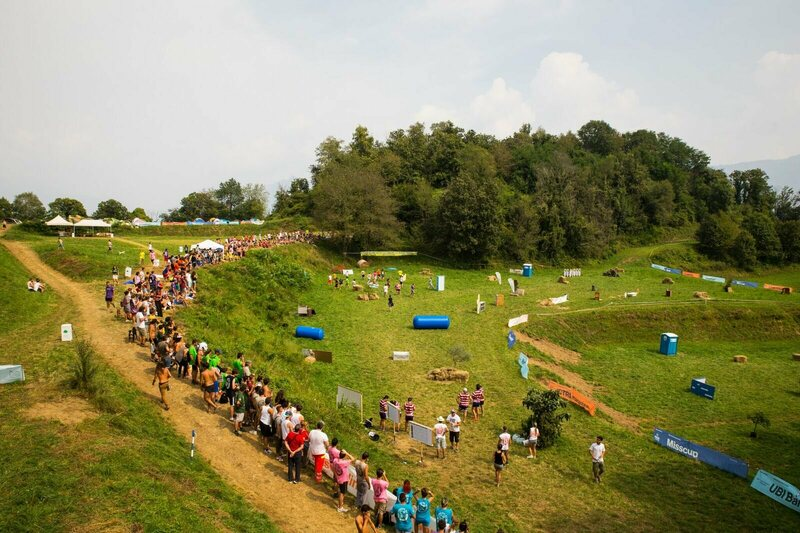 The playing field for the 2016 Nascondino World Championships, held in Consonno, Italy.
