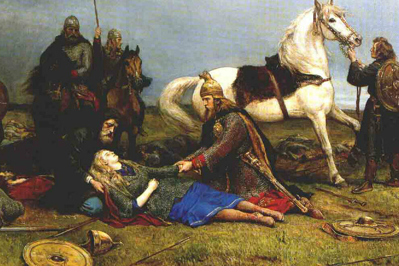 The death of a (mythical) Viking warrior woman.