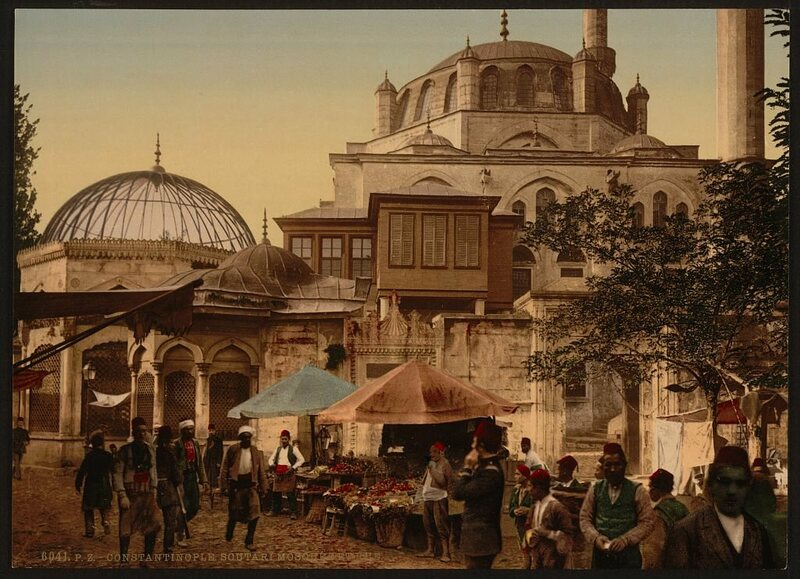 A photochrom of Istanbul in the late 19th century.