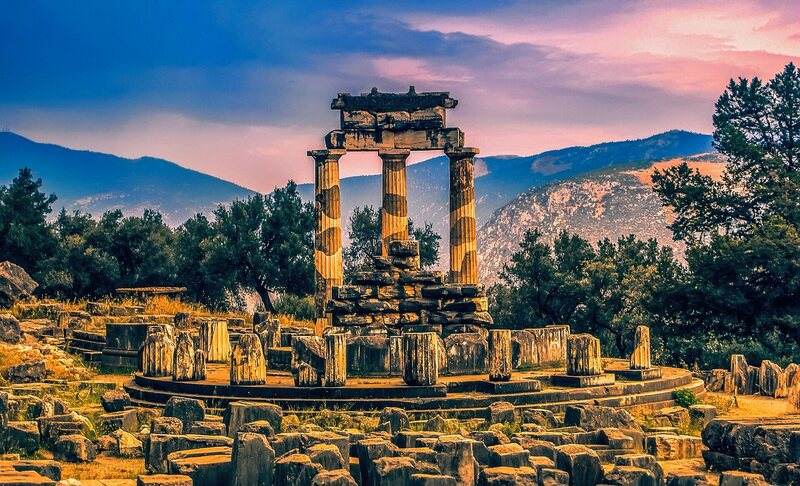 The Delphi complex is one of the most famous landmarks of the ancient world.
