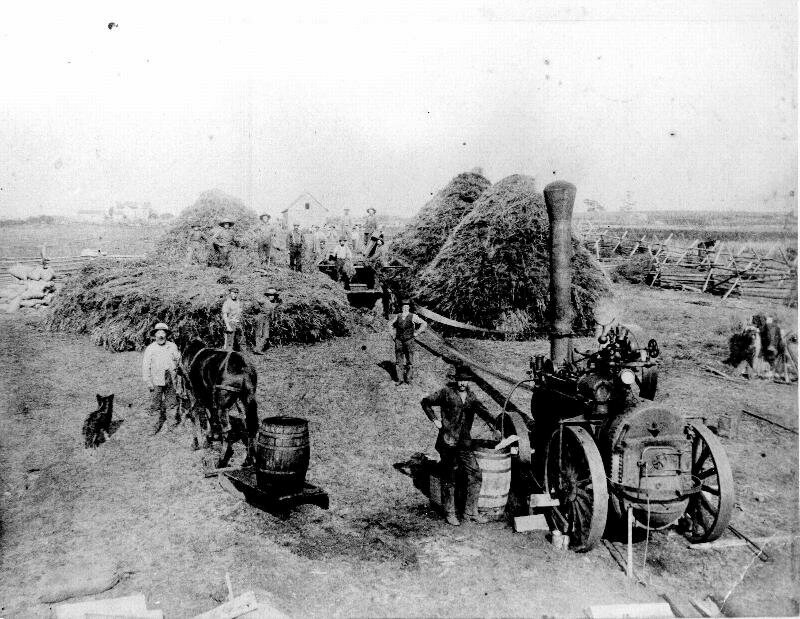 The site of the American camp, as a farm in the 19th century.