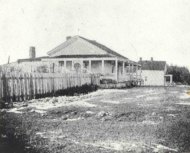 Officers' quarters after joint occupation that began in 1860.