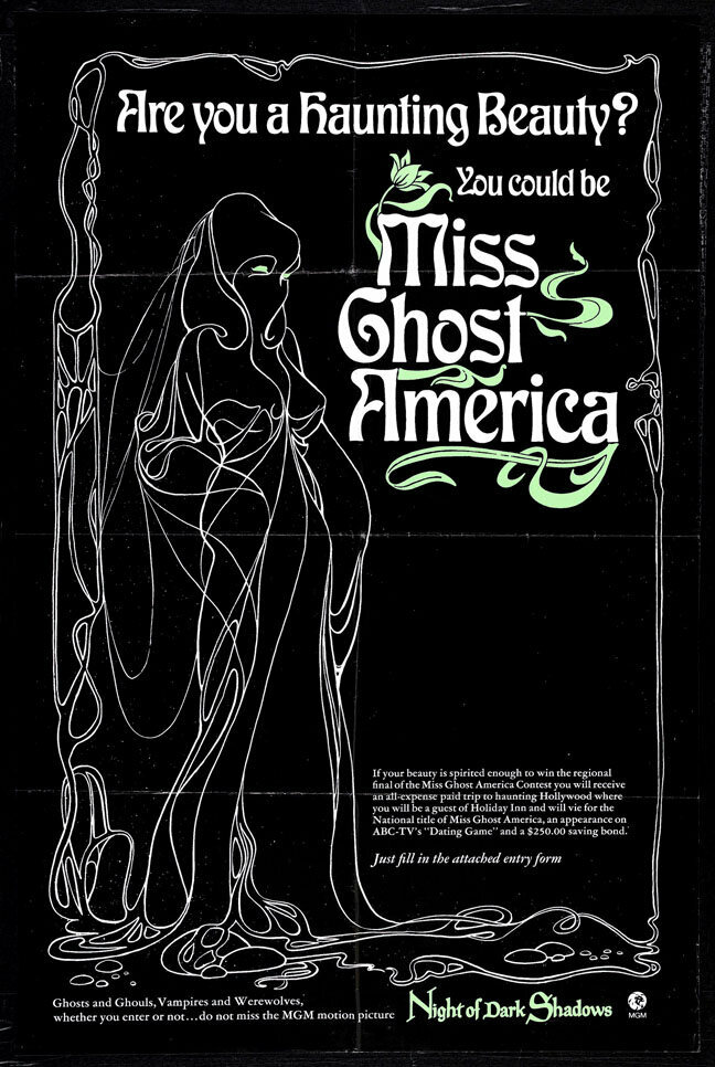 An ad for the Miss Ghost America contest.