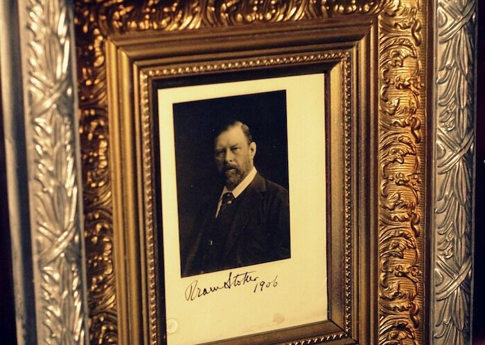 Autographed photograph of Bram Stoker in the Vampire Museum