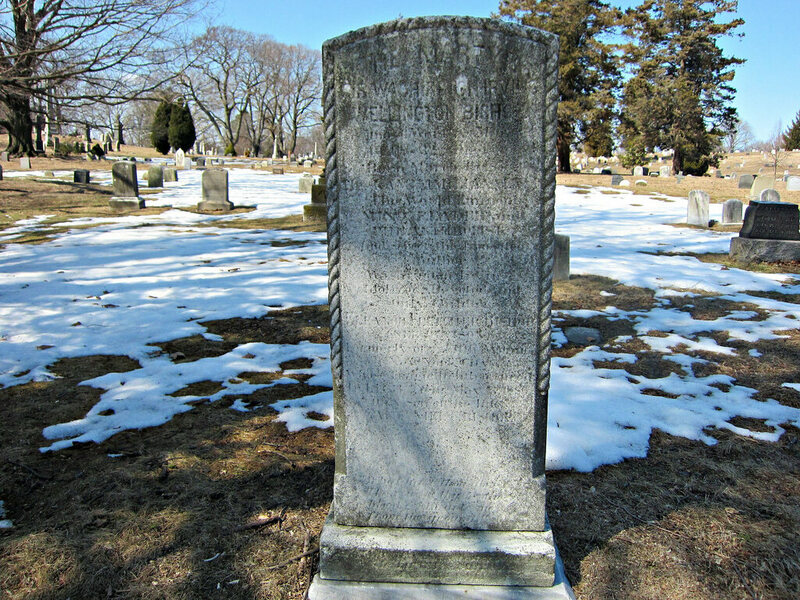 Grave of Washington Irving Bishop in Green-Wood Cemetery, Brooklyn