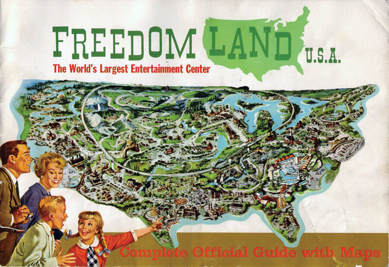 The Rise And Suspiciously Rapid Fall Of Freedomland USA Atlas - Map of us amusement parks