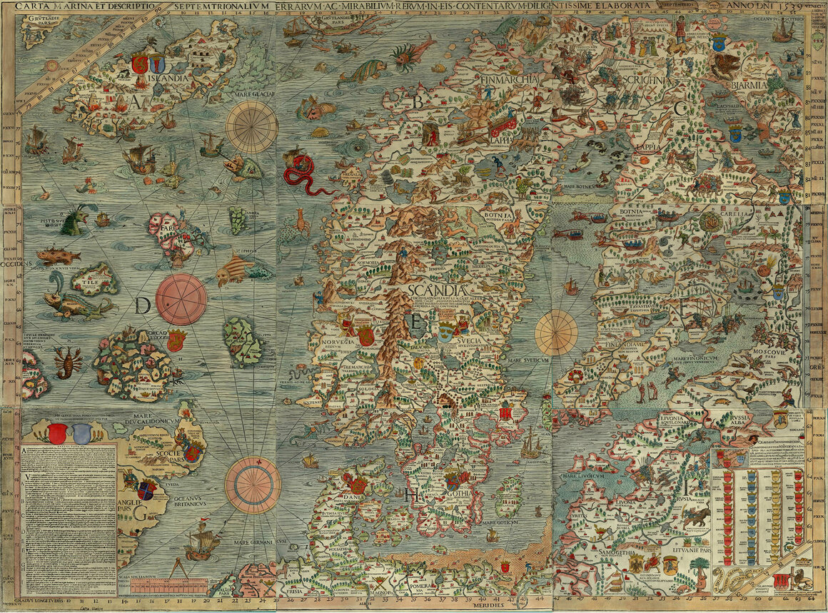 Can You Spot all the Sea Monsters in this 16thCentury Map
