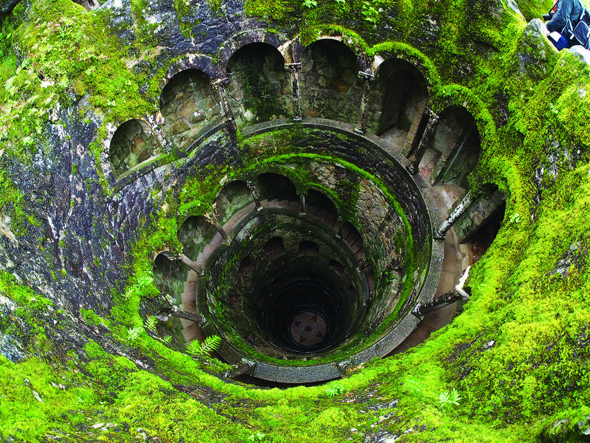 "An ""initiation well,"" used in magical rites, which was excavated at the Quinta da Regaleira estate in Sintra, Portugal."