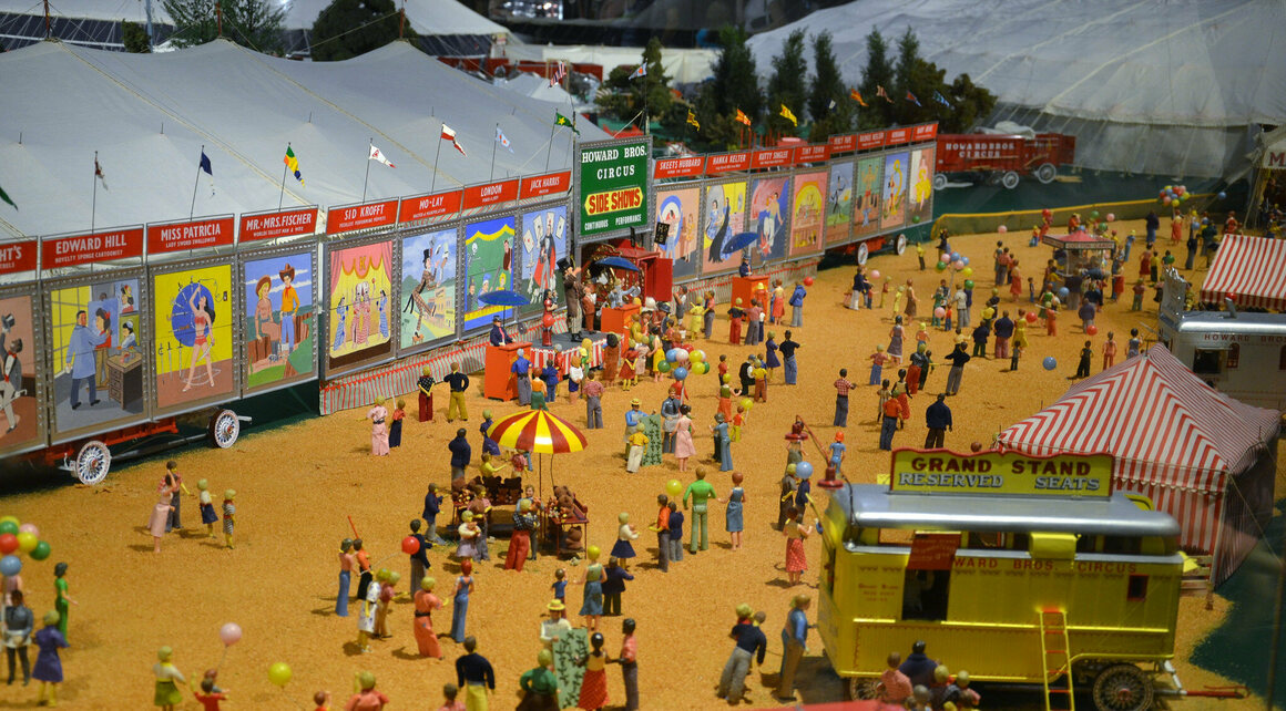 The 44,000-piece Howard Bros. Circus Model at the Ringling Circus Museum.