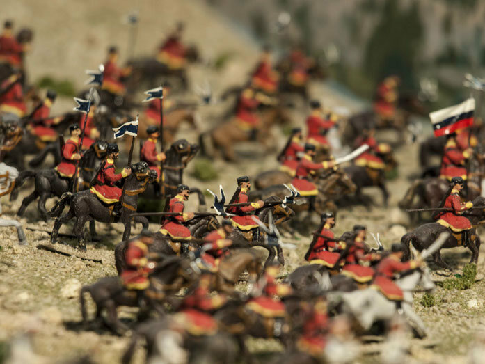 Battle diorama at the Jaca Citadel Military Miniatures Museum.