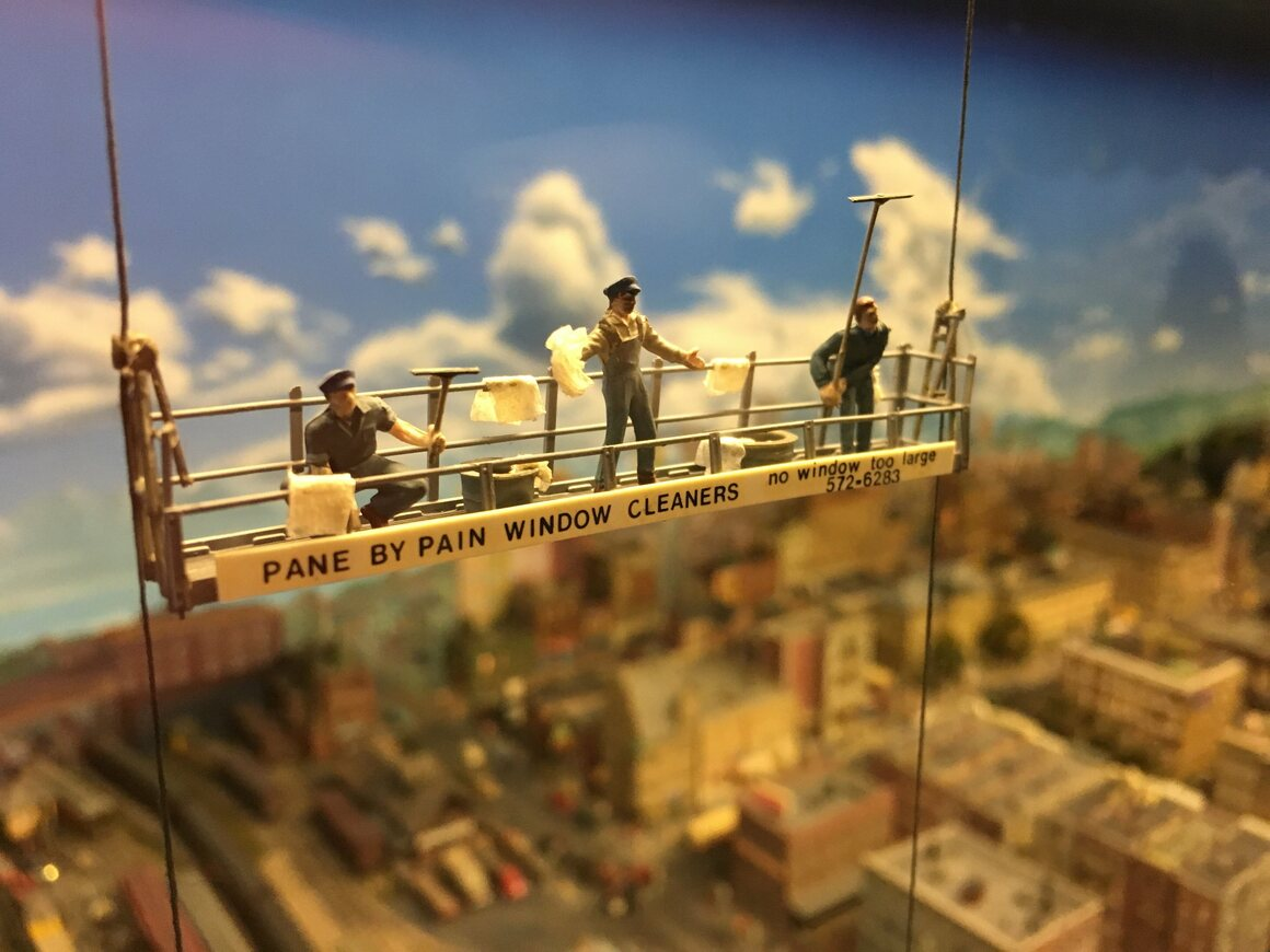 Each diorama has its own narrative.