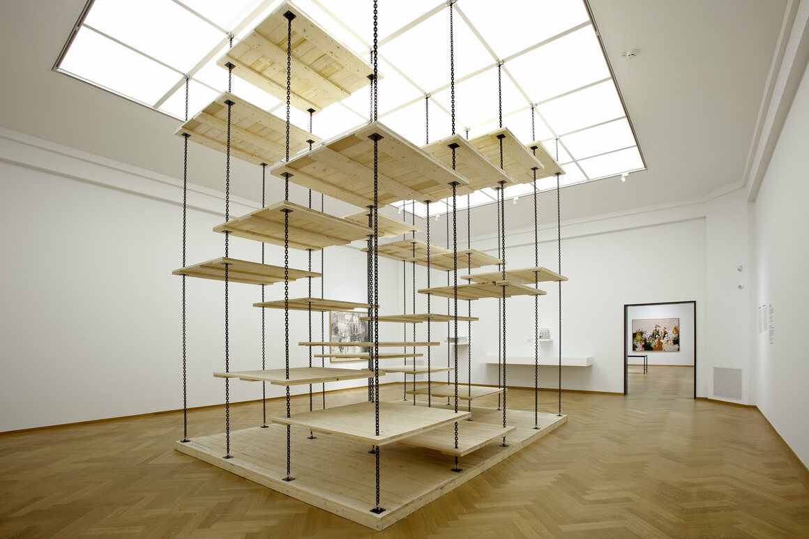 """""""Playful Stairs,"""" one of Nieuwenhuys's """"immersive environments,"""" on display last year at the Gemeentemuseum Den Haag."""
