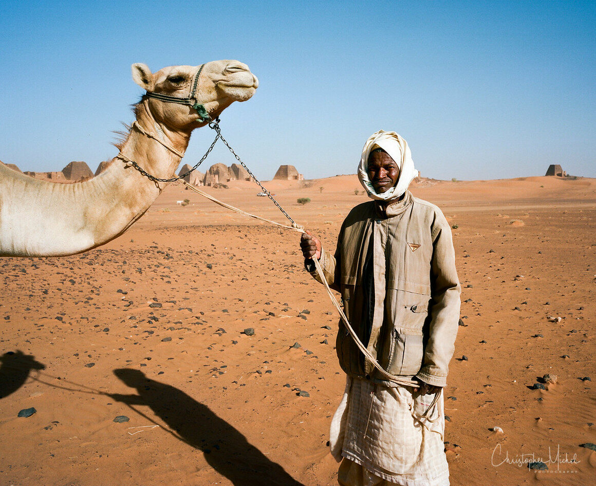 Local villagers are offer camel rides for the right price.