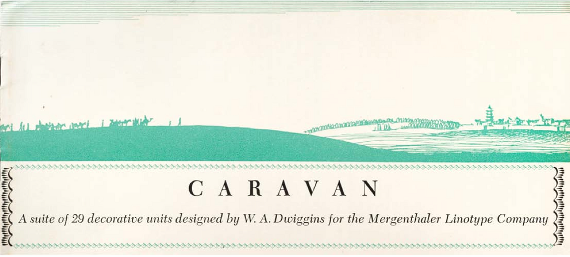 "The illustrated cover for a booklet of ""Caravan Ornaments."""