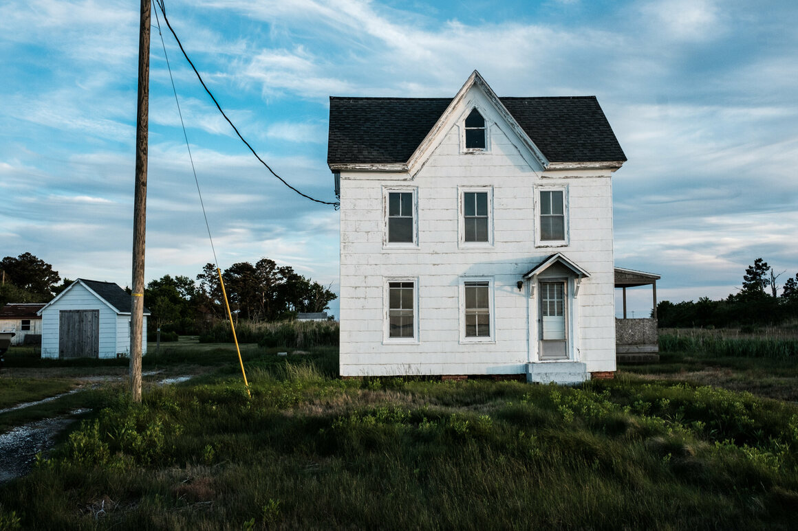 A home on Smith Island, Maryland's last inhabited offshore island.