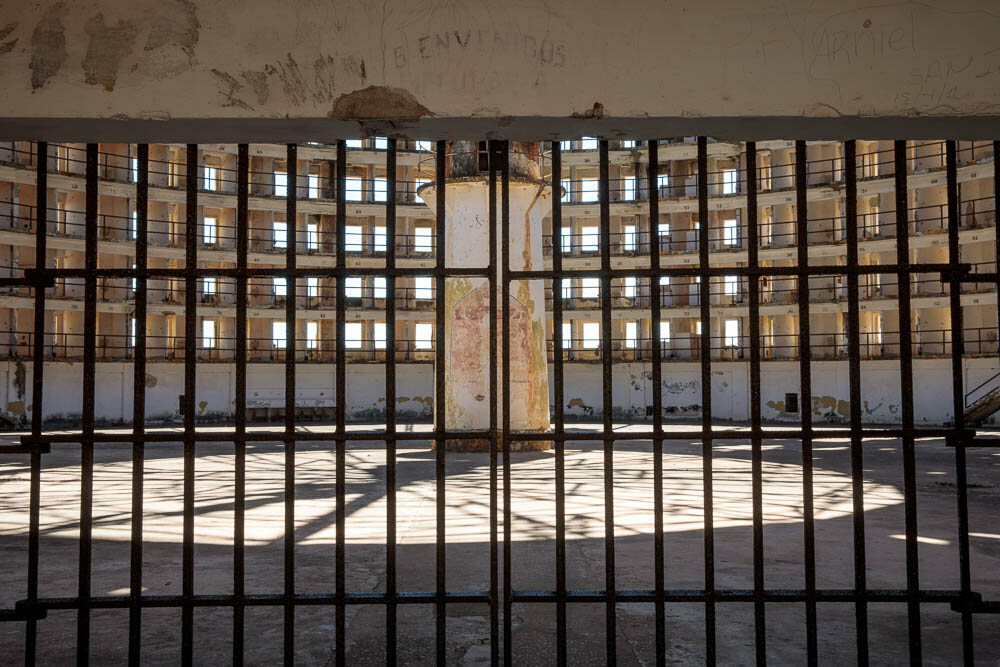 One of the prison buildings that is closed to outsiders.