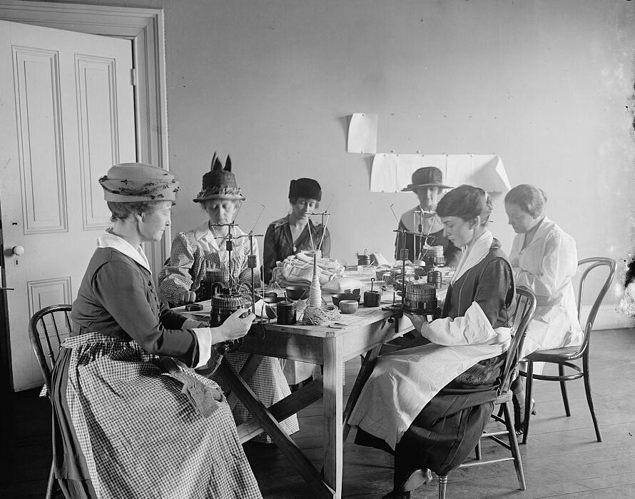 Women of the Comforts Committee, ca. 1910–20.