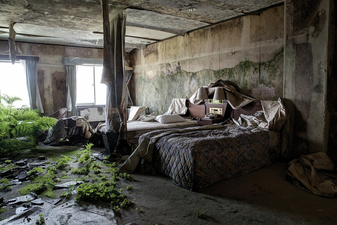 What was once a guest room at the Royal Hotel.