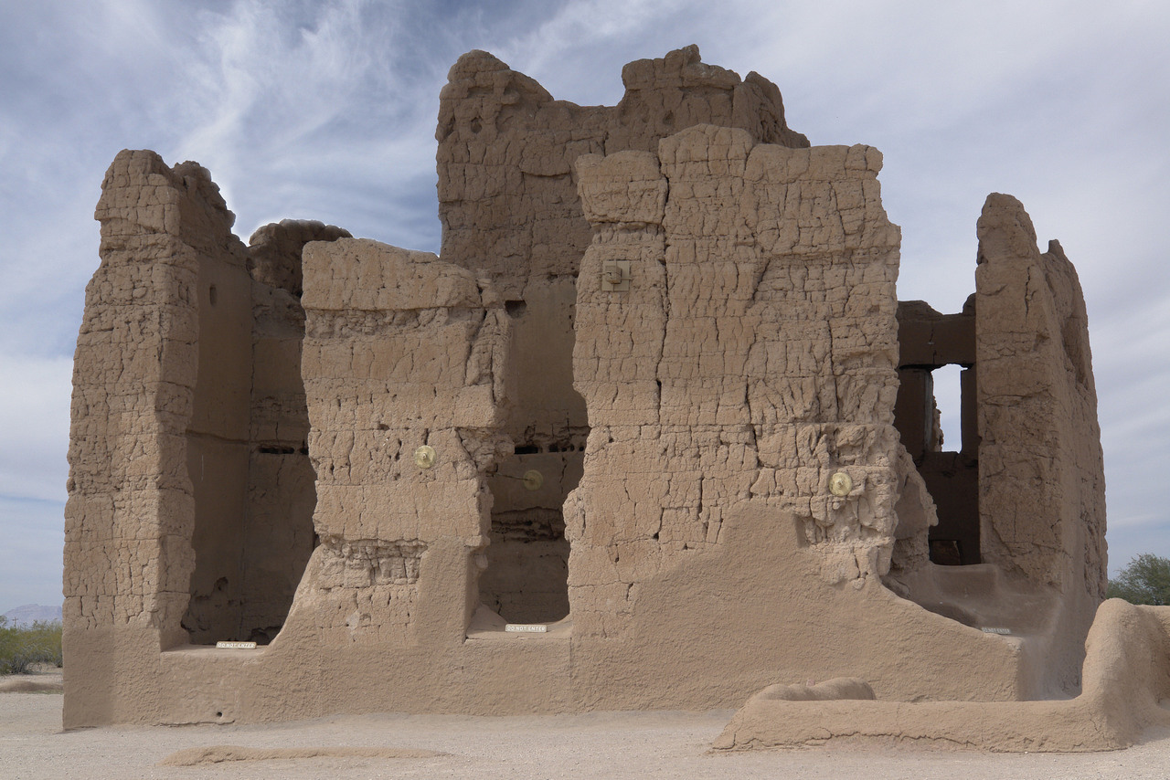 Casa Grande ruins in Arizona.