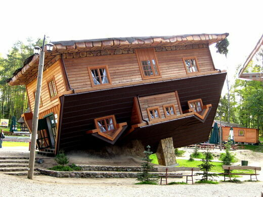The Upside Down House upside-down house – szymbark, poland - atlas obscura