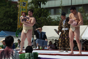 Naki Sumo Baby Crying Contest in Tokyo, Japan