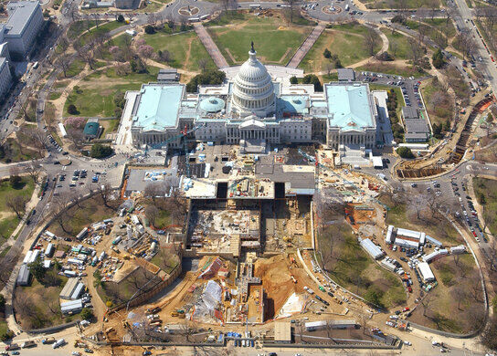 Construction Of The Tunnel Is Visible On The Right Architect Of The Capitol Public Domain