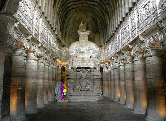 Ajanta caves ajanta india atlas obscura for Ajanta indian cuisine