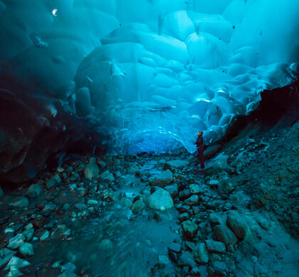 Crystal Ice Caves In Iceland